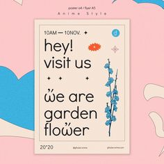 Free, Garden, Flowers, Anime, Poster, Editorial Design, Garten, Lawn And Garden, Gardens