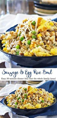 Sausage Egg Rice Bow