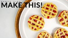These muffin tin mini cherry pies are packed full with the flavors of summer and are surprisingly easy to make! Muffin Tin Recipes, Pastry Recipes, Baking Recipes, Mini Cherry Pies, Mini Pies, Blueberry Pie Recipes, Raspberry Crumble, Bite Size Desserts, Feeding A Crowd