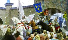 Joan of Arc and the French army come to Orleans (1429).