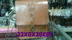 Leather bag for man mixed with crocodile leather
