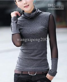 Awesome collar and gauze sleeves  I love Asian fashion!