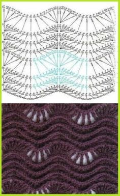 Textured lace & ripple crochet pattern by Barbara Cue