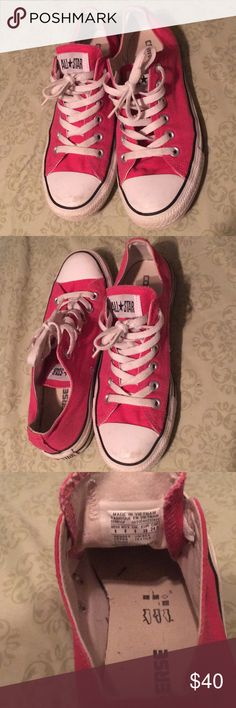 Women's pink converse shoes Great condition. Gently worn. Bundle to save on shipping! Size 8 Converse Shoes