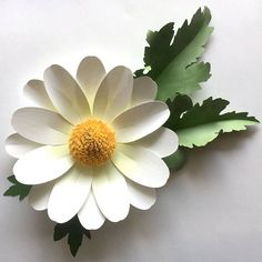 Daisy Paper Flower DIY Cutting Files SVG DXF