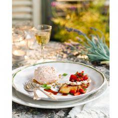 Strawberry and basil ice cream - strawberry ice cream recipe - Good Housekeeping