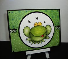 ribbit from Lisa Lara and Clear Dollar Stamps