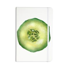 """Theresa Giolzetti """"Cucumber"""" Green White Everything Notebook"""