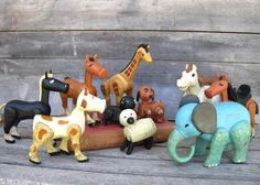 Vintage Fisher Price Hex Screw Farm Animals, 910, 915 FP Little People Vintage Toys, Barnyard Friends, Fisher Price Collectibles, Treasury