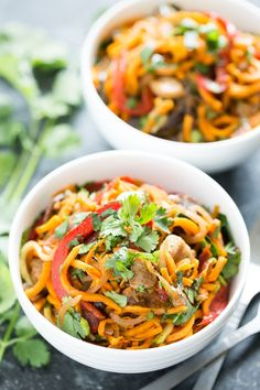 Cajun Sweet Potato Noodles | Get Inspired Everyday!