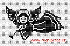 Angel, free cross stitch patterns and charts - www.free-cross-stitch.rucniprace.cz