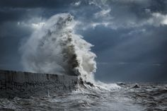 Powerful Waves Crashing With the Force of Mythical Gods and Sea Creatures