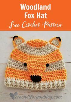 Crochet Woodland Fox Hat Free Pattern 2992c900a3dc