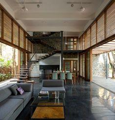 Stylish eco-friendly home in India - Ashri Architect #IndianHomeDecor
