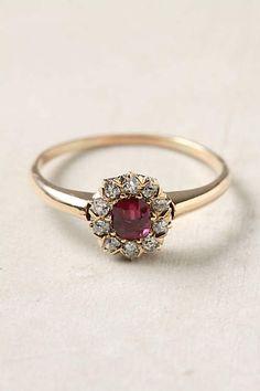 Ruby & Diamond Ring - anthropologie.com