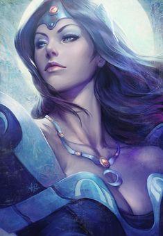 Mirana the Moon Priestess by Artgerm.deviantart.com on @deviantART