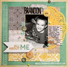 All About Me: Brandon - Scrapbook.com
