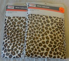 RARE LEOPARD CHEETAH Animal Print TABLE COVER Jungle Safari PARTY DECORATION #FamilyChef #AnyParty & adult Cheetah Print Party Theme | Cheetah/Leopard Print Party Pack ...