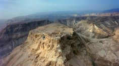 A breathtaking aerial view of Masada, once a mountain fortress built by order of Herod the Great during the Century BCE (BC). (Jerusalem US LP) Christian Videos, Christian Movies, My Father's World, Jerusalem Israel, Promised Land, World Religions, Holy Land, Great Videos, Spiritual Inspiration