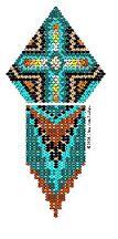 Southwestern Cross Pendant Pattern by Chris Ann Philips at Bead-Patterns.com