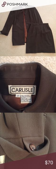 Carlisle skirt suit Chocolate brown Worn 3 times-perfect condition carlisle Other