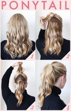 9 Best Office Hairstyles for Long Hair - Hair Styles Hair Styles 2014, Curly Hair Styles, Hair Styles Work, Hair Styles Casual, Thick Long Hair Styles, Style Long Hair, Easy Hair Styles Quick, Long Hair Ponytail Styles, High Curly Ponytail