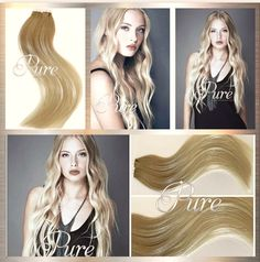 Medium Caramel Roots To Light Medium Blonde Tape Hair Extensions The ultimate collection of balayage / Ombre hair extensions that have written all over them. Silver Blonde, White Blonde, Light Blonde, Caramel Ombre Hair, Caramel Blonde, Best Ombre Hair, Wavy Hair Extensions, Medium Blonde, Fresh Hair