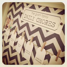 Daily Chore Board http://www.thedailyfivephx.com/make-a-chore-board/