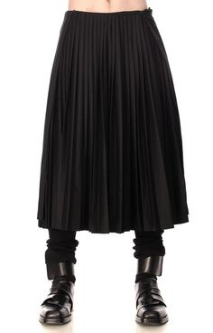 Giuliano Fujiwara Long Pleated Men's Skirt