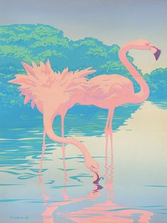 80s Pink Flamingos
