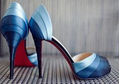 tonal hue, lovely blue #weddingshoes