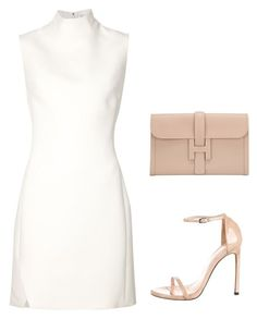 A fashion look from October 2015 featuring sleeveless dress, Stuart Weitzman and leather purses. Browse and shop related looks. Cute Comfy Outfits, Classy Outfits, Stylish Outfits, Fashion Night, Look Fashion, Womens Fashion, Rehearsal Dinner Outfits, High Fashion Outfits, Elegantes Outfit