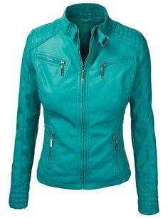 New Women Motorcycle Lambskin Leather Jacket Coat Size XS S M L XL LFWN577