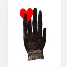 Don't let love slip trough your fingers.  Love Print -  Zlatka Paneva