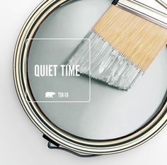 The subtle-yet-soothing gray of Behr's Quiet Time perfectly captures January's contemplative mood, which is why we've selected it as our Color … Interior Paint Colors, Paint Colors For Home, House Colors, Interior Painting, Paint Colours, Interior Design, Nautical Paint Colors, Soothing Paint Colors, Office Paint Colors