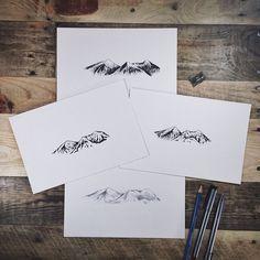 Mountain sketches - tattoo idea
