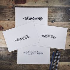 steelbison:  Sketched up some tattoo ideas for @zachmillerz #mountains #tattoo #copicart