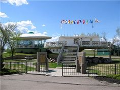 Discover World's First UFO Landing Pad in Saint Paul, Alberta: Canadian centennial project designed to gather information about UFOs. O Canada, Alberta Canada, Alberta Travel, Alien Encounters, Canadian Travel, Concrete Structure, Tourist Information, Roadside Attractions, Ufo