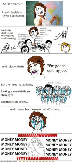 Rage Comics Motivation as a teacher