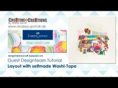 ▶ 【Faber Castell - Design Memory Craft】 Guest Designteam Project #1 - funky Scrapbook Layout - YouTube