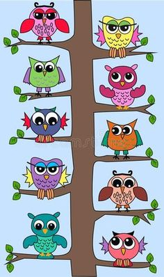 Paper Owls, Paper Art, Drawing For Kids, Art For Kids, Owl Wallpaper, Owl Vector, Sitting In A Tree, Owl Tree, Rock Crafts