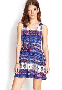 Antiqued Floral Print Dress | Forever21 - 2000122622