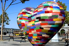 a giant, colorful heart