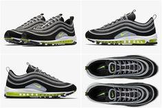 2017-2018 Hot Sale Nike Air Max 97 OG Black Volt Metallic Silver White  921826