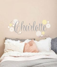 Flower Name Wreath Decal VII YOUR DECAL SHOP NZ Designer Wall - Custom vinyl wall decals flowers