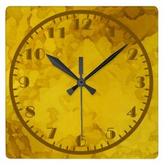 Yellows and Golds Water Colour Clocks