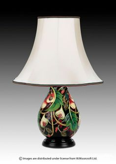 Moorcroft Pottery Queens Choice Lamp Designer Emma Bossons FRSA
