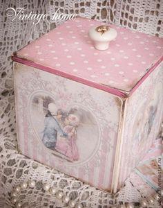 """""""Галантный век"""" Короб для хранения - розовый,короб,короб декупаж,короб для хранения"""