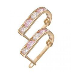 Kolczyki z białymi i różowymi cyrkoniami #PamiatkaChrztu #PrezentNaChrzciny #KolczykiDlaDziewczynki