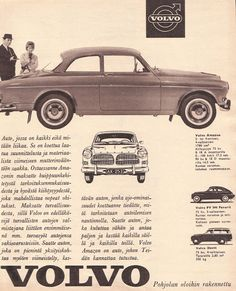 Volvo Ad, Volvo Amazon, Busse, Car Posters, Car Advertising, Automotive Photography, Old Ads, Vintage Ads, Cars And Motorcycles